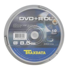 Traxdata DVD+R DL 8X CAKE 10