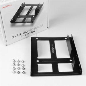 """AXAGON RHD-225 adapter za ugradnju 2 x 2.5"""" HDD/SSD u 3.5"""""""