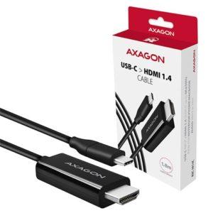 AXAGON USB-C -> HDMI 1.4 cable 1.8m 4K/30Hz