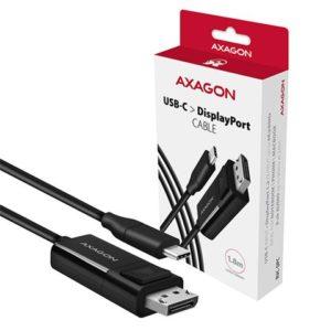 AXAGON USB-C -> DisplayPort cable 1.8m 4K/60Hz